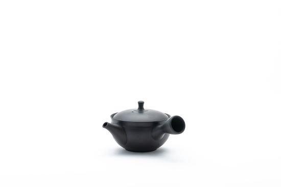 すすむ屋茶店オリジナル【常滑ろくろ急須 101】(黒)