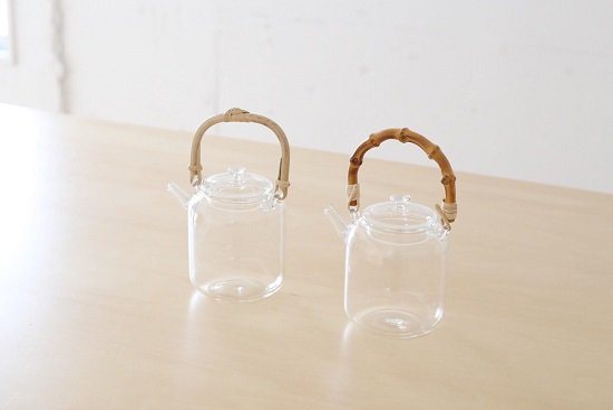 「STUDIO PREPA」スタジオプレパ ティーポット(土瓶)(竹・あけび・真鍮)(耐熱ガラス)