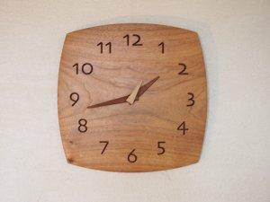 木の時計(角型)胡桃-くるみ-