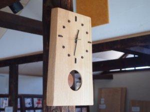 木の時計(耳付き振り子)タモ
