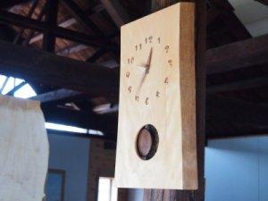 木の時計(耳付き振り子)水目桜-みずめざくら-