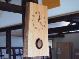 木の時計(耳付き振り子)山桜
