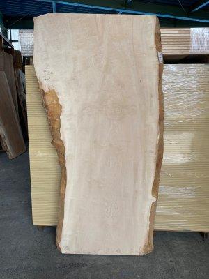 栃(トチ)純白玉杢 一枚板  テーブル用の天板材