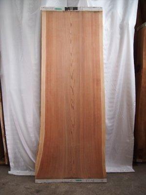 杉無垢一枚板、木目の通直な一枚 素直な良い木です!