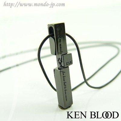 KENBLOOD スティックトップペンダント KP-293M (ブラックダイヤ)