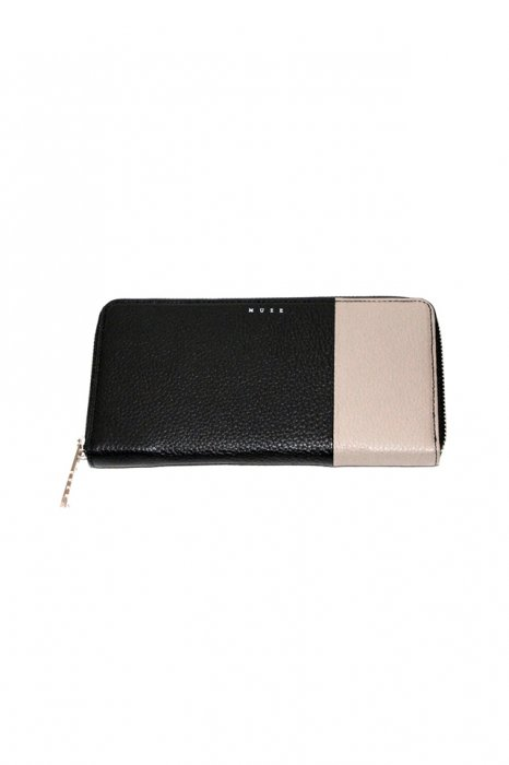 MUZE - LEATHER WALLET (BLACK × BEIGE)「ミューズ」[財布]