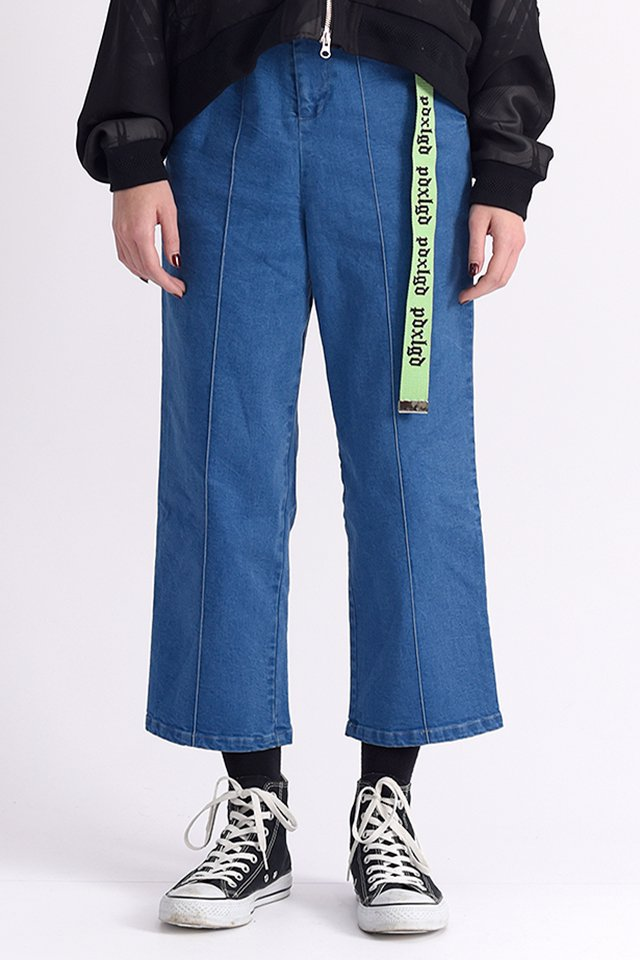 PARADOX×LEGENDA - WIDE DENIM SLACKS (INDIGO)