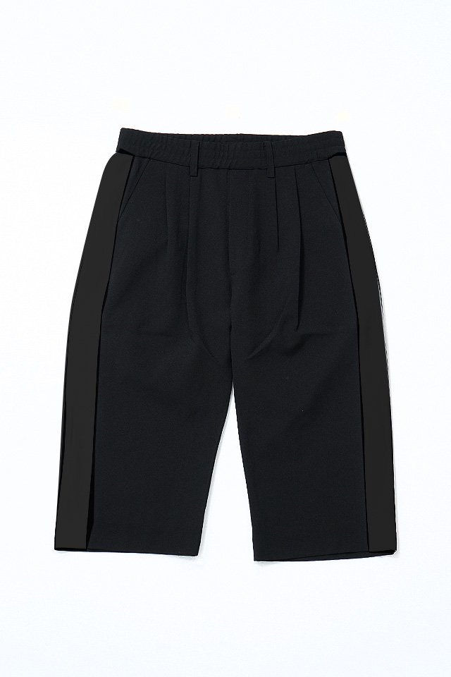 MUZE - SIDE LINE EASY PANTS (BLACK)「ミューズ」[パンツ]
