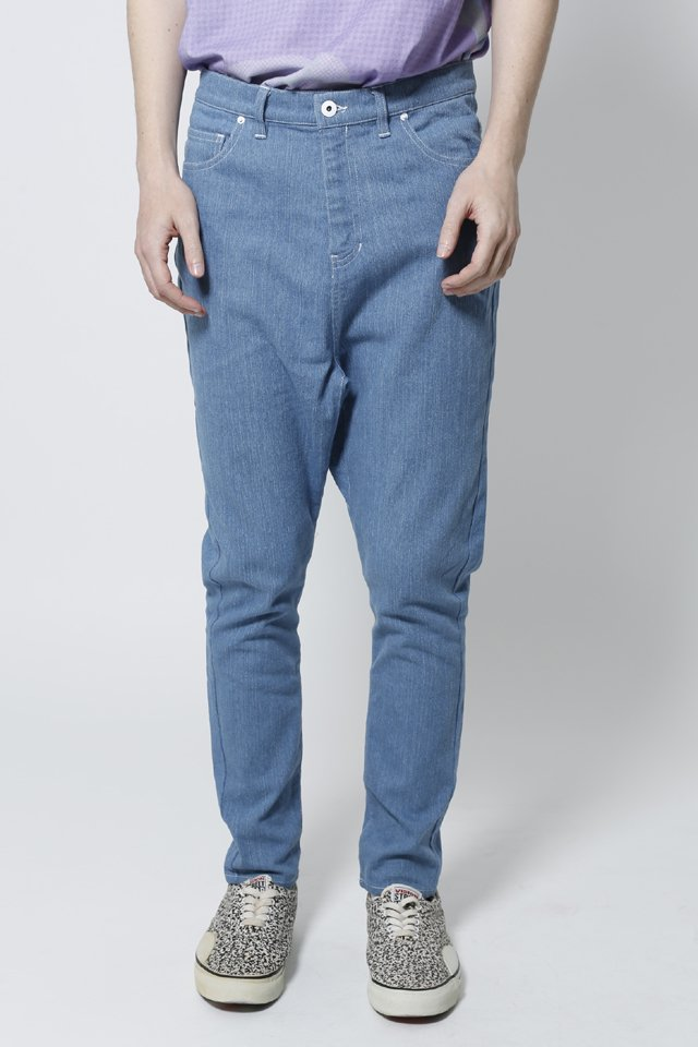 【30%OFF】THE TEST - SARROUEL PANTS (LIGHTDENIM)「ザテスト」[パンツ]