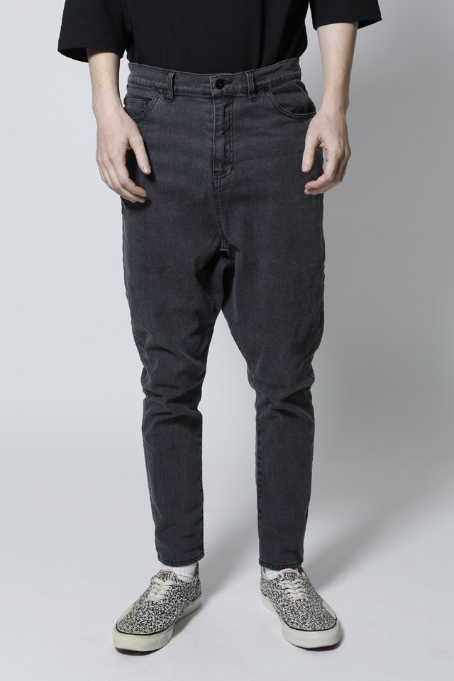 【50%OFF】THE TEST - SARROUEL PANTS (BLACKDENIM)「ザテスト」[パンツ]