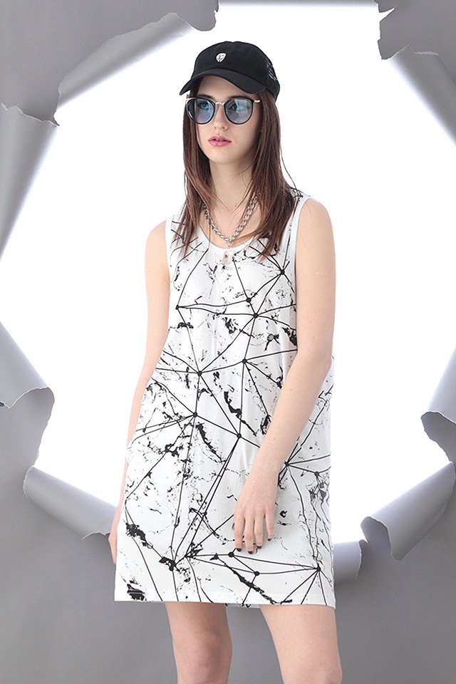 PARADOX×LEGENDA - SURFACE MARBLE LONG TANK TOP (WHITE)