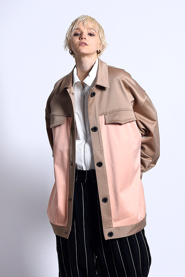 MUZE - FREE MAN OVER JACKET (BEIGE)「ミューズ」[ジャケット]
