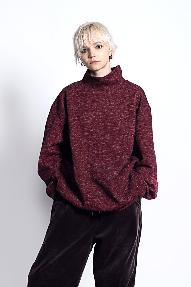 MUZE - TWEEDY KNIT SWEAT (RED)「ミューズ」[スウェット]