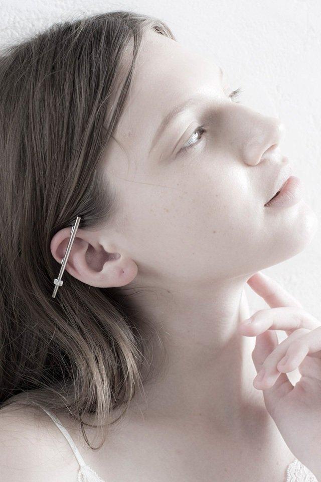 unclod - NUT EAR CUFF (SILVER)「アンクロッド」[イヤーカフ]