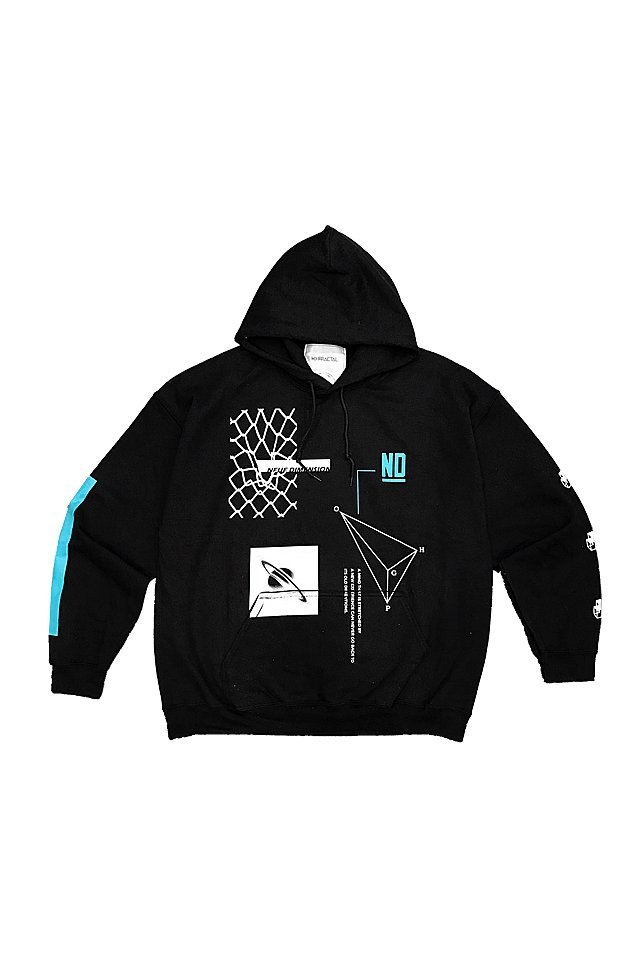 H>FRACTAL ORIGINAL - GRAPHIC PARKA (DISTEND-BLACK)