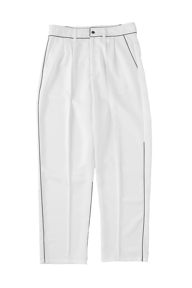 MUZE -  NOISE PIPING SLACKS (WHITE)「ミューズ」[パンツ]