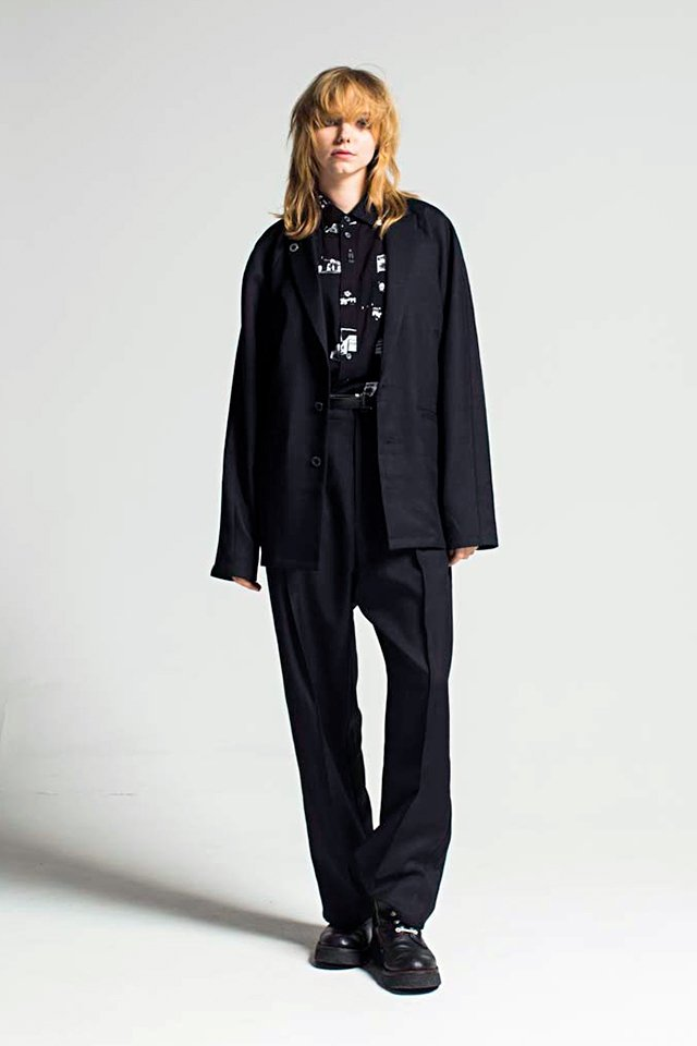 MUZE - CHAMBRAY TAILORED JACKET (BLACK)「ミューズ」[ジャケット]