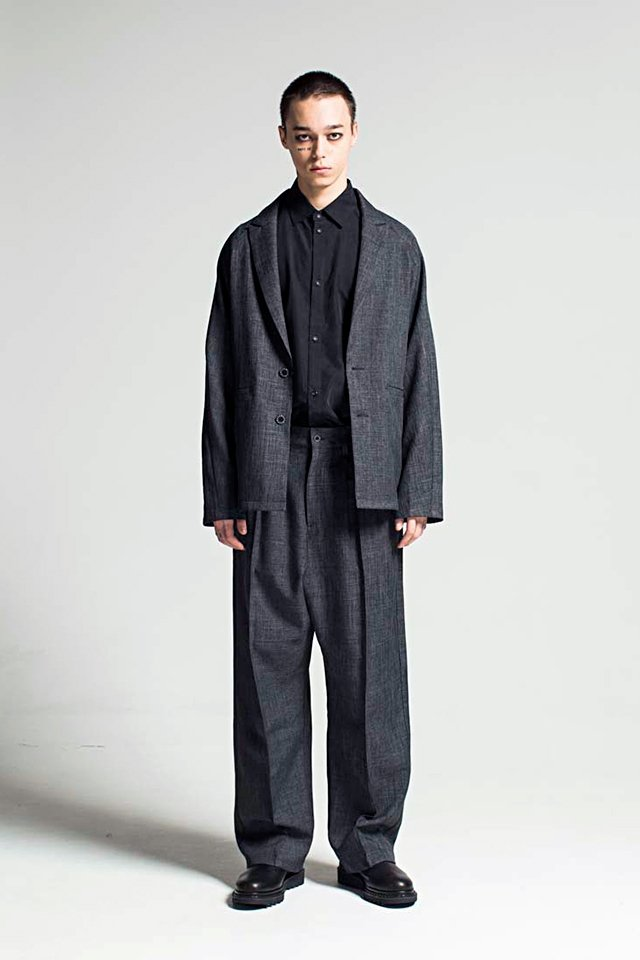 MUZE - CHAMBRAY TAILORED JACKET (BLACKGRAY)「ミューズ」[ジャケット]