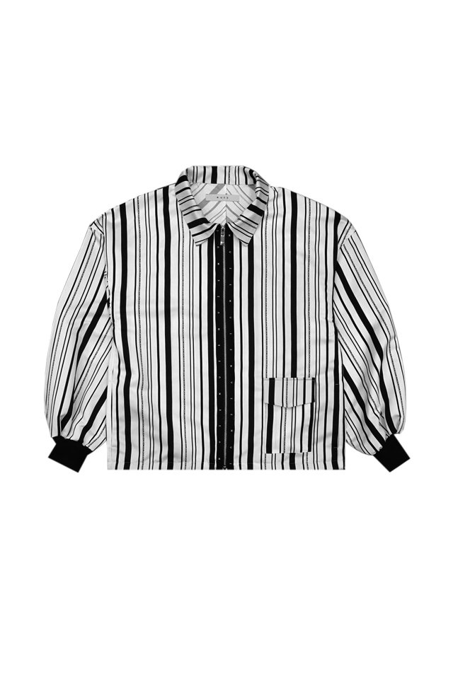 MUZE - NOISE BOMBER SHIRTS (WHITE)「ミューズ」[シャツ]