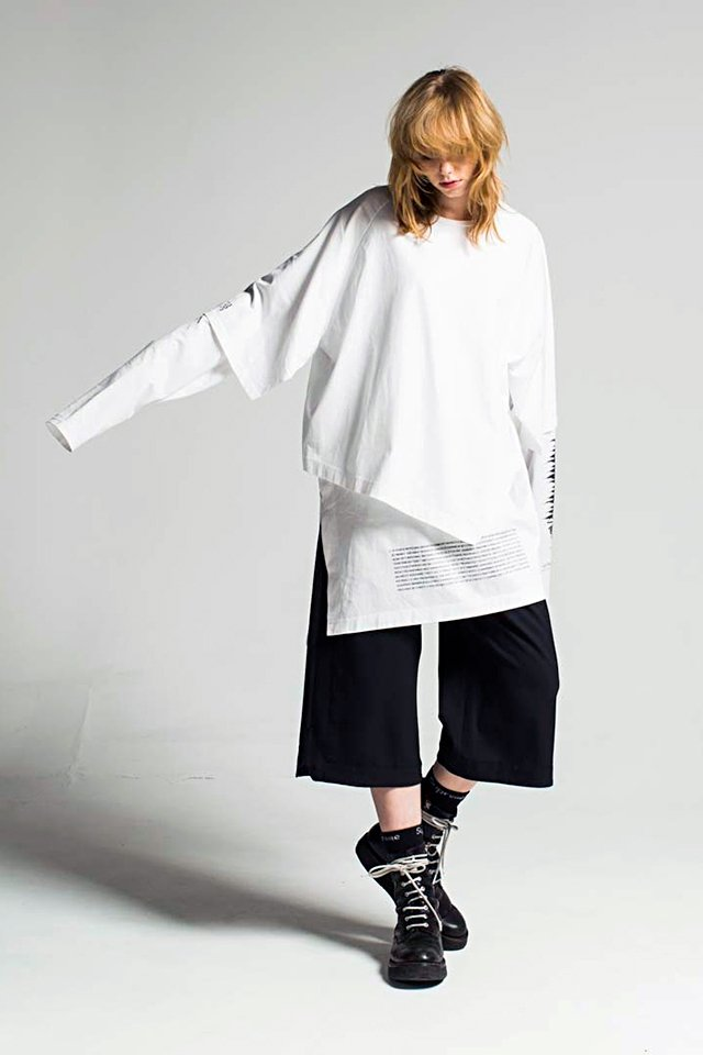 MUZE - NOISE LAYERED TEE (WHITE)「ミ...