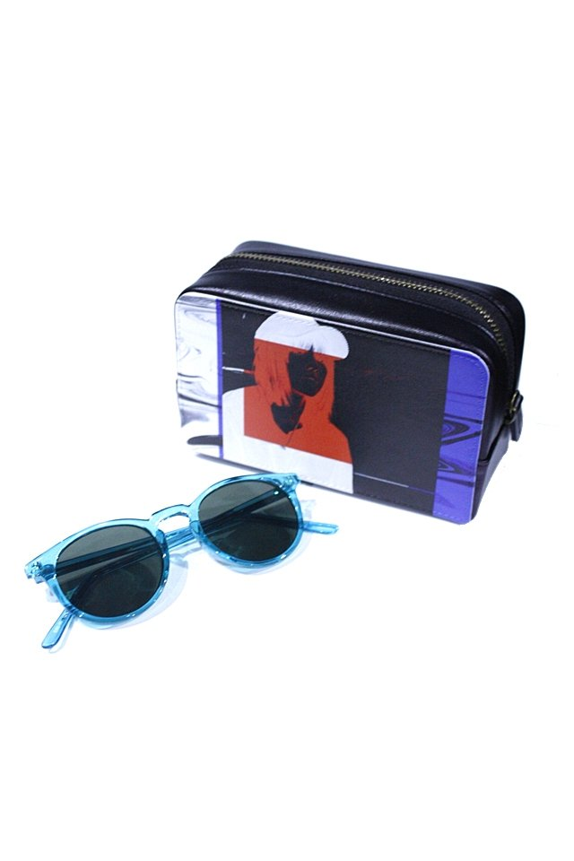 H>FRACTAL - CLEAR SUNGLASS (BLUE×BLACK) GRAPHIC POUCH SET「フラクタル」[サングラス]