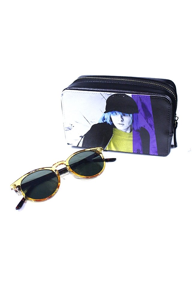 H>FRACTAL - CLEAR SUNGLASS (YELLOW×BLACK) GRAPHIC POUCH SET「フラクタル」[サングラス]