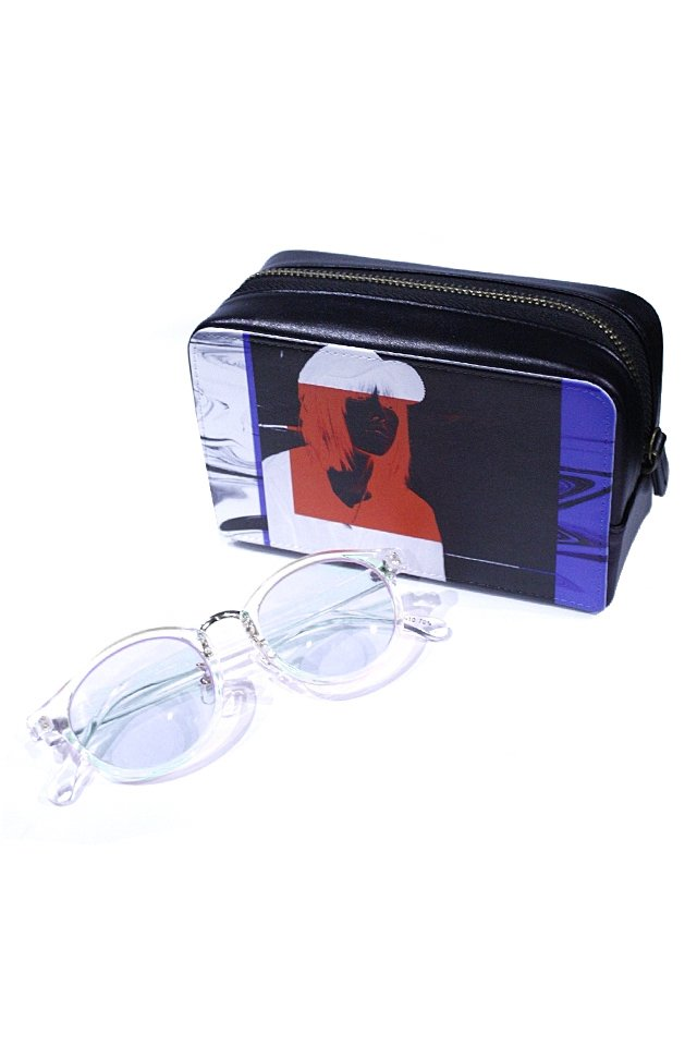 H>FRACTAL - CLEAR SUNGLASS (CLEAR×LIGHT BLUE) GRAPHIC POUCH SET「フラクタル」[サングラス]