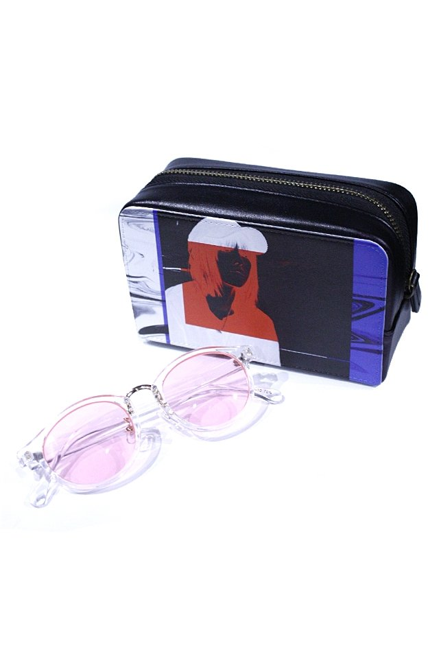 H>FRACTAL - CLEAR SUNGLASS (CLEAR×LIGHT PINK) GRAPHIC POUCH SET「フラクタル」[サングラス]