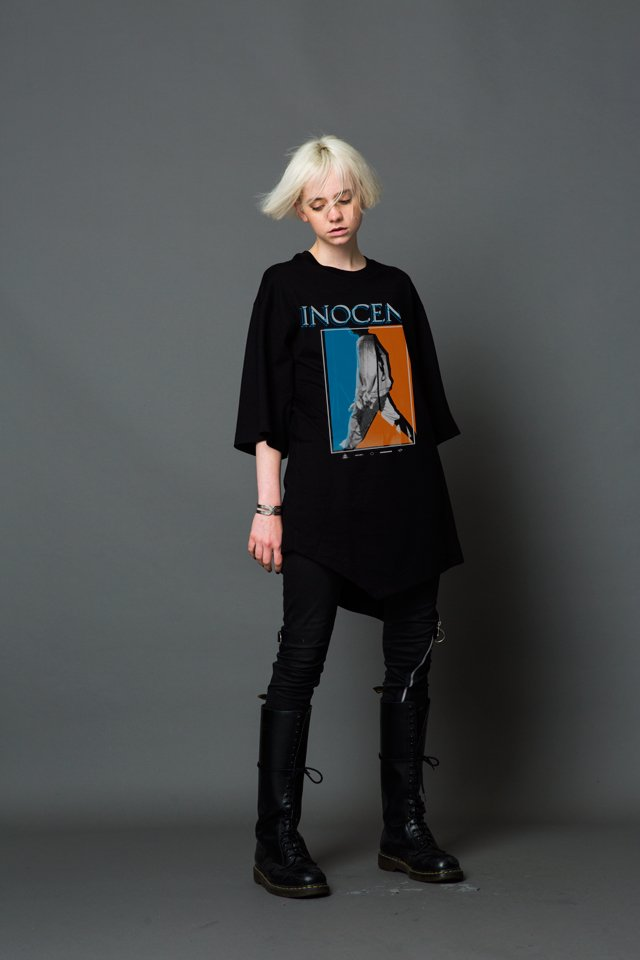 MUZE - INOCENT LAYERD S/S TEE(BLACK)「ミューズ」[Tシャツ]