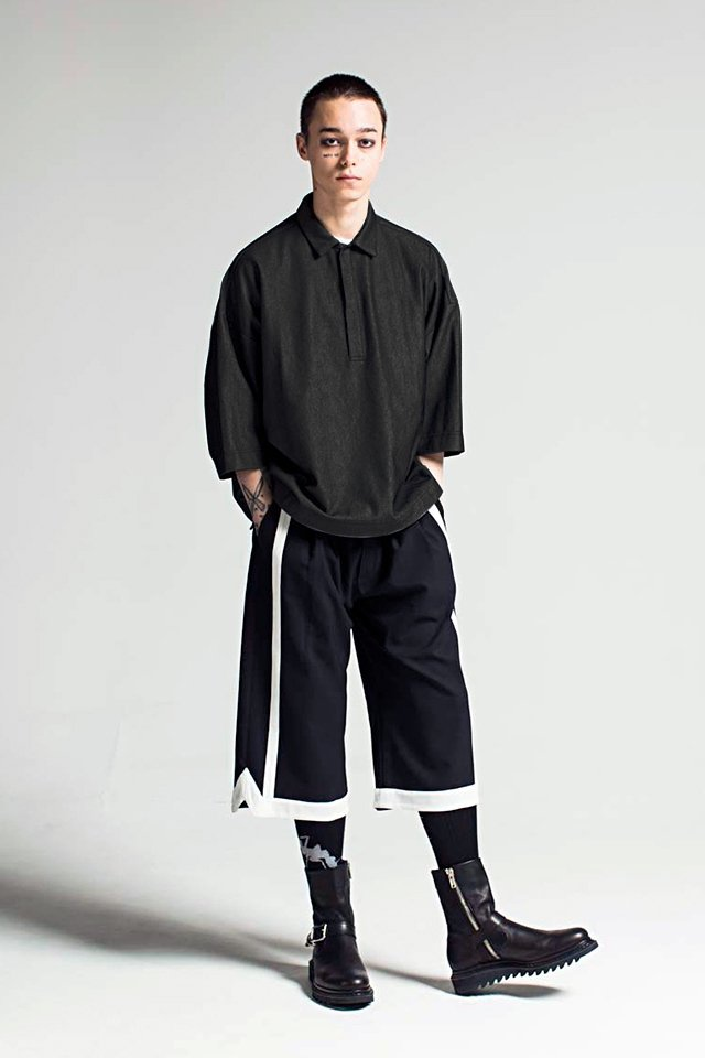 MUZE - OUTLAST BIG POLO SHIRTS (BLACK)「ミューズ」[シャツ]
