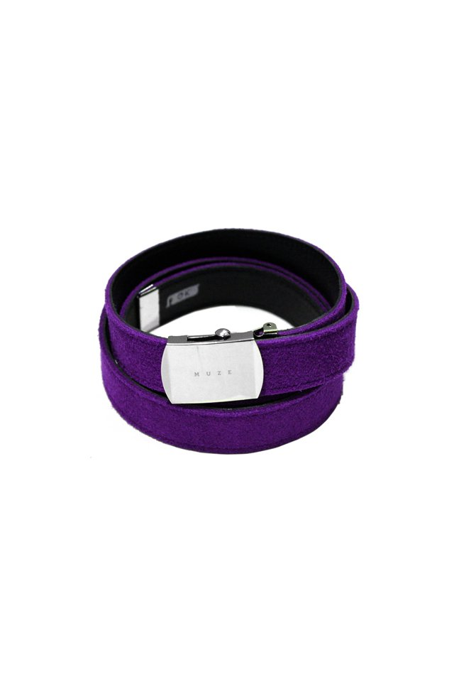 MUZE×O.K - SUEDE LONG BELT (PURPLE×BLACK) 「ミューズ」[ベルト]