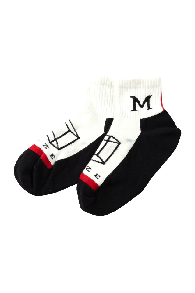 MUZE × Fun- SHORT SOCKS (RED)「ミューズ」[ソックス]