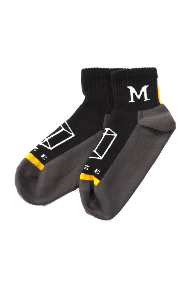 MUZE × Fun - SHORT SOCKS (YELLOW)「ミューズ」[ソックス]