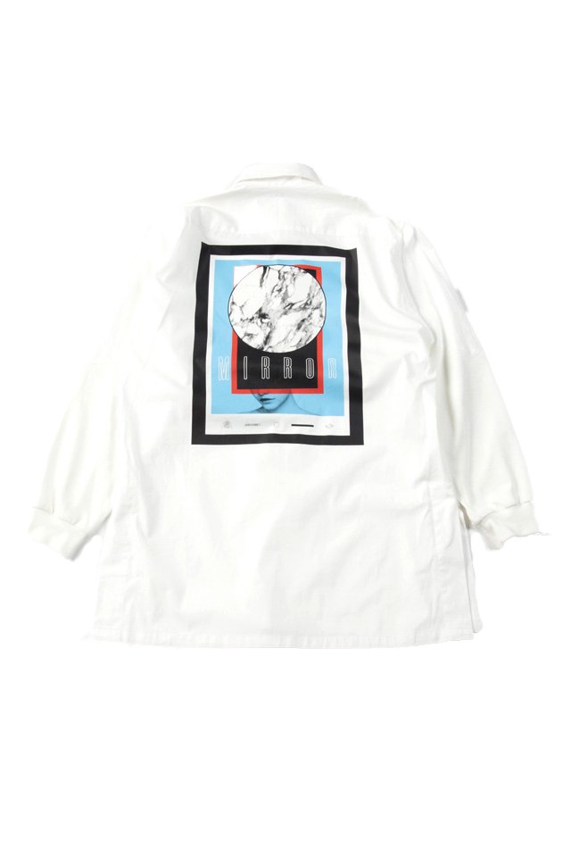 MUZE - SWEAT SLEEVE BIG SHIRTS (WHITE)「ミューズ」[シャツ]