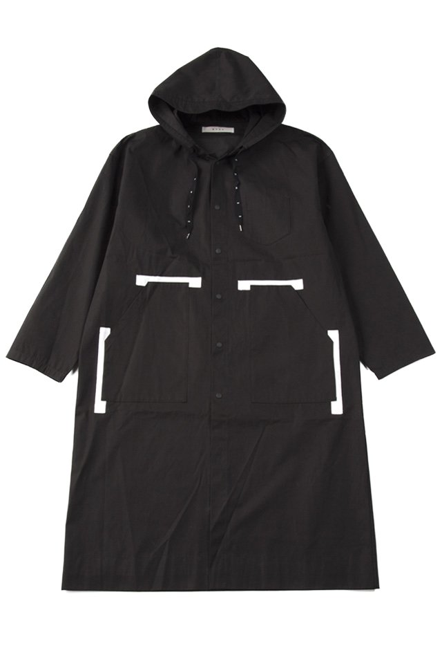 MUZE - RAIN HOODED COAT (BLACK)「ミューズ」[アウター]