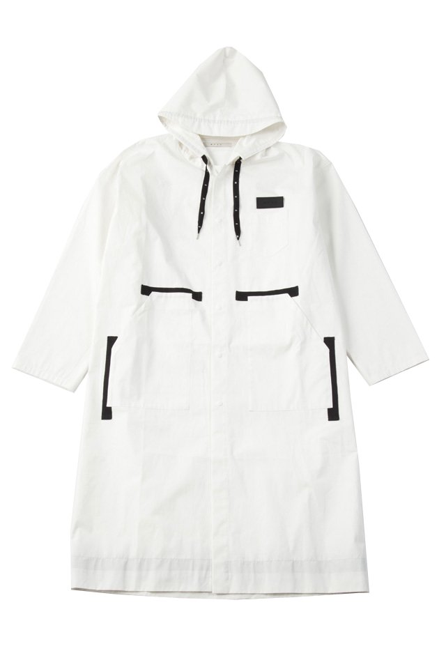 MUZE - RAIN HOODED COAT (WHITE)「ミューズ」[アウター]