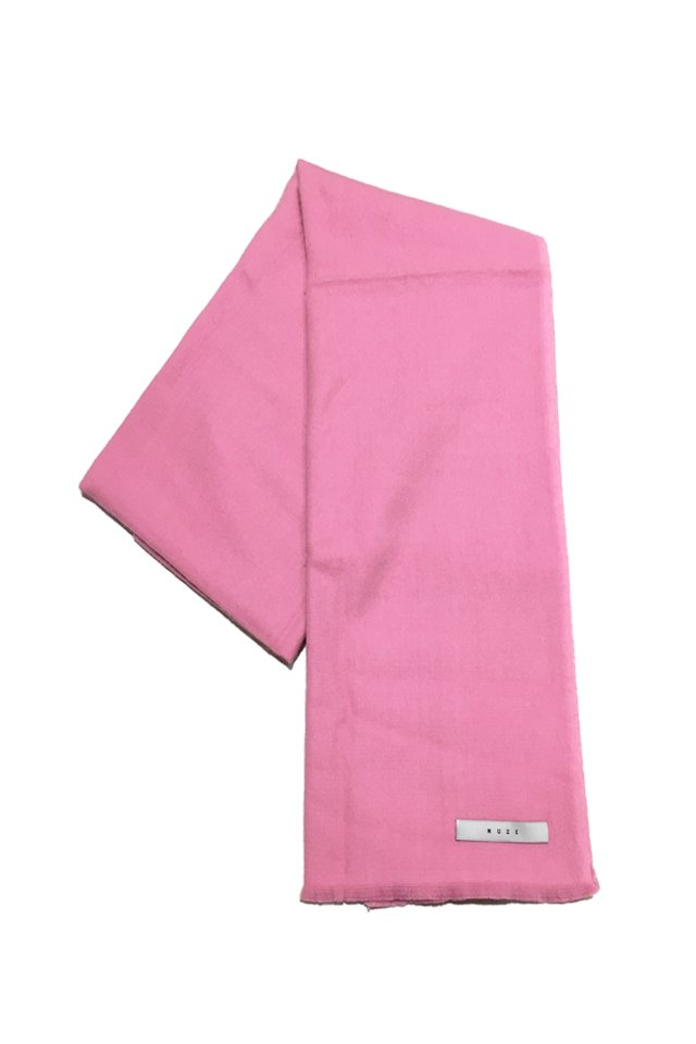 MUZE - CASHMERE WOOL SCARF (PINK)「ミューズ」[スカーフ]