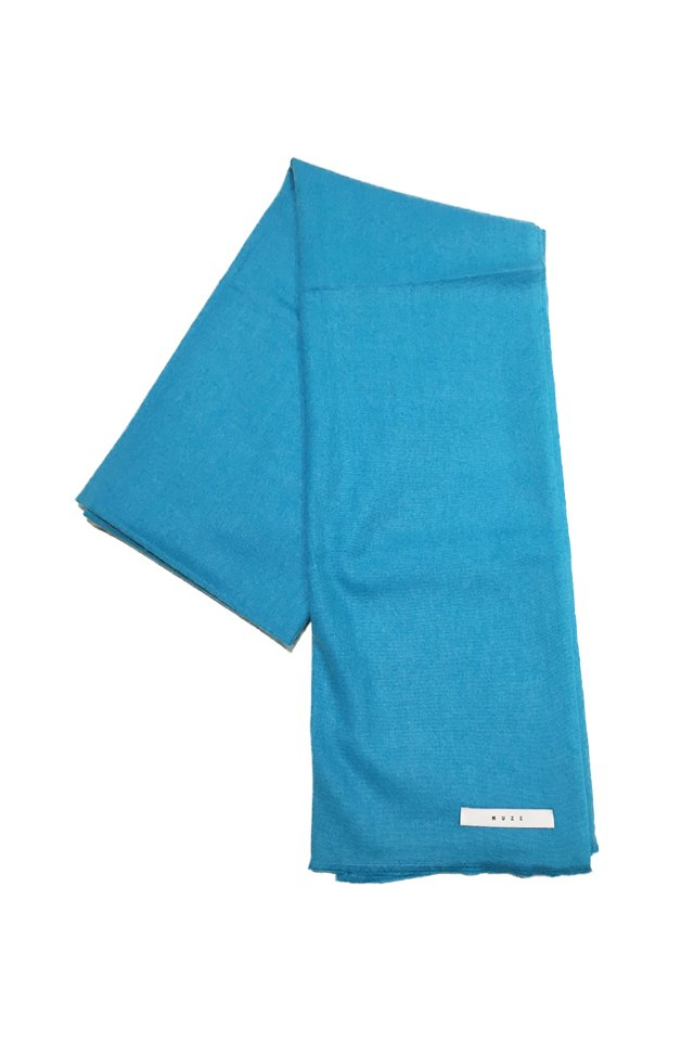 MUZE - CASHMERE WOOL SCARF (TURQUOISE)「ミューズ」[スカーフ]