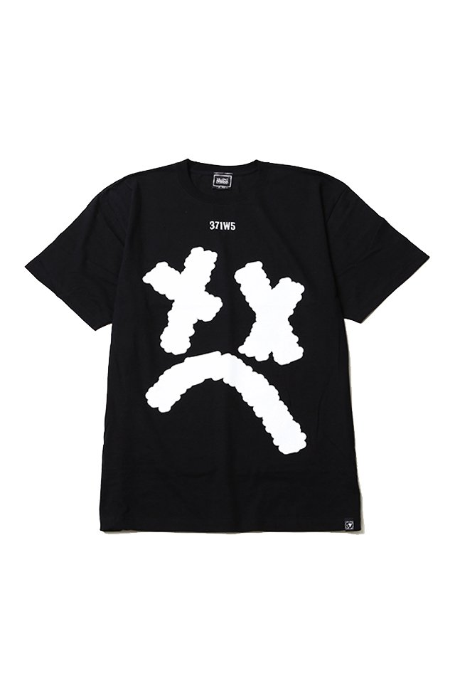 SILLENT FROM ME - SMILE TEE (BLACK)「サイレントフロムミー」[シャツ]