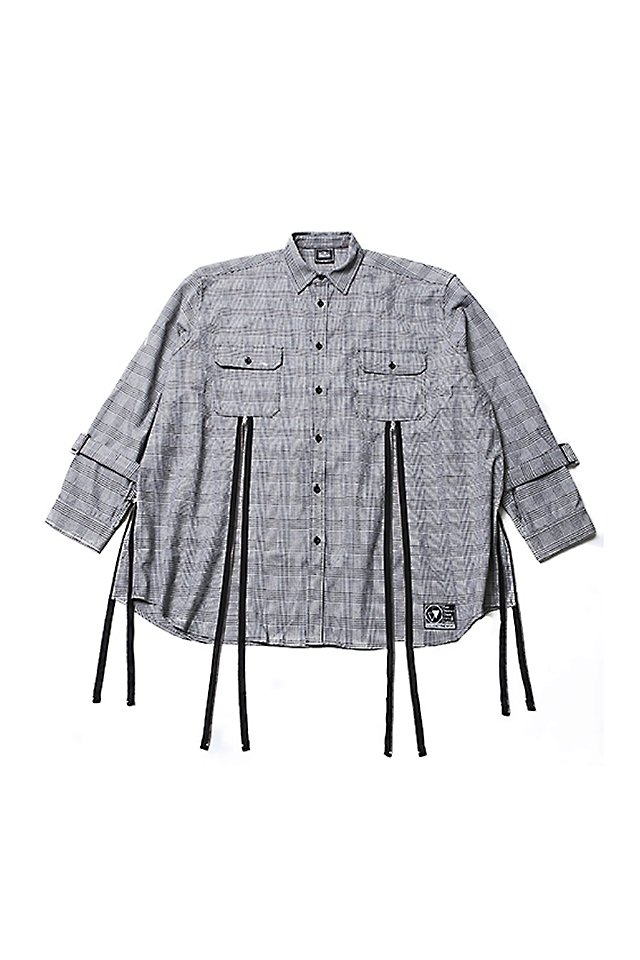 SILLENT FROM ME - ECHO -Zip Wide Shirts- (GRAY) [サイレントフロムミー]「シャツ」