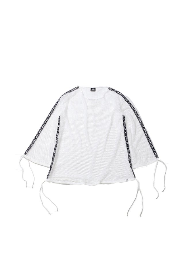 SILLENT FROM ME - MIST -Wide Mesh Pullover-(WHITE) [サイレントフロムミー]「トップス」