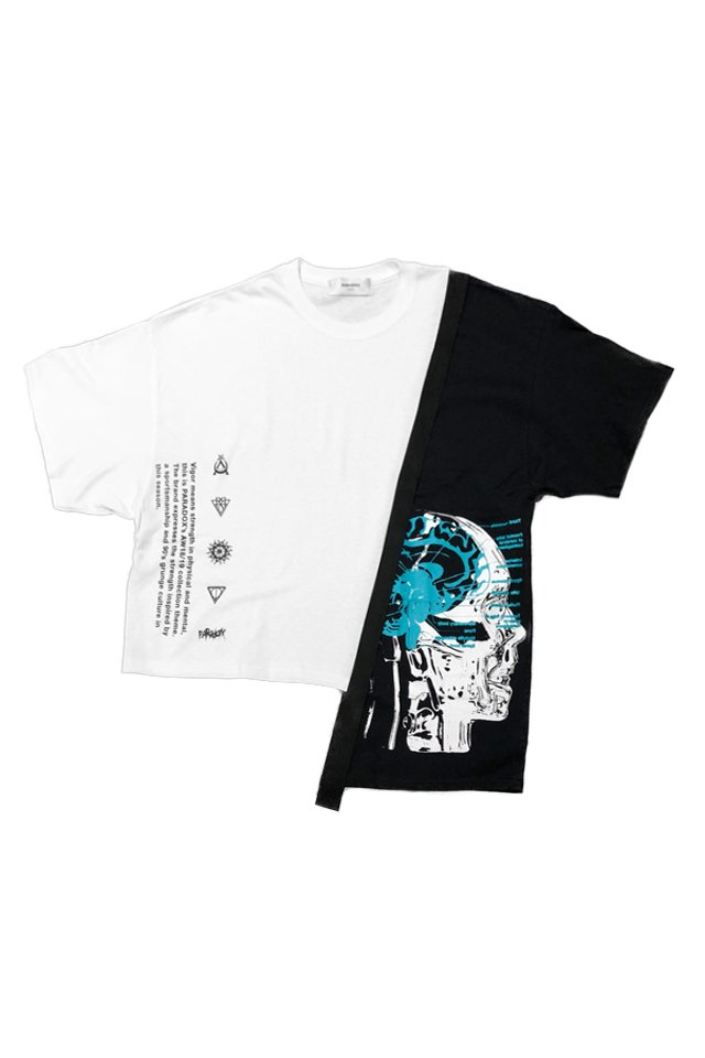 PARADOX - SWITCH TEE (DOPAMINE/WHITE)[パラドックス]「シャツ」