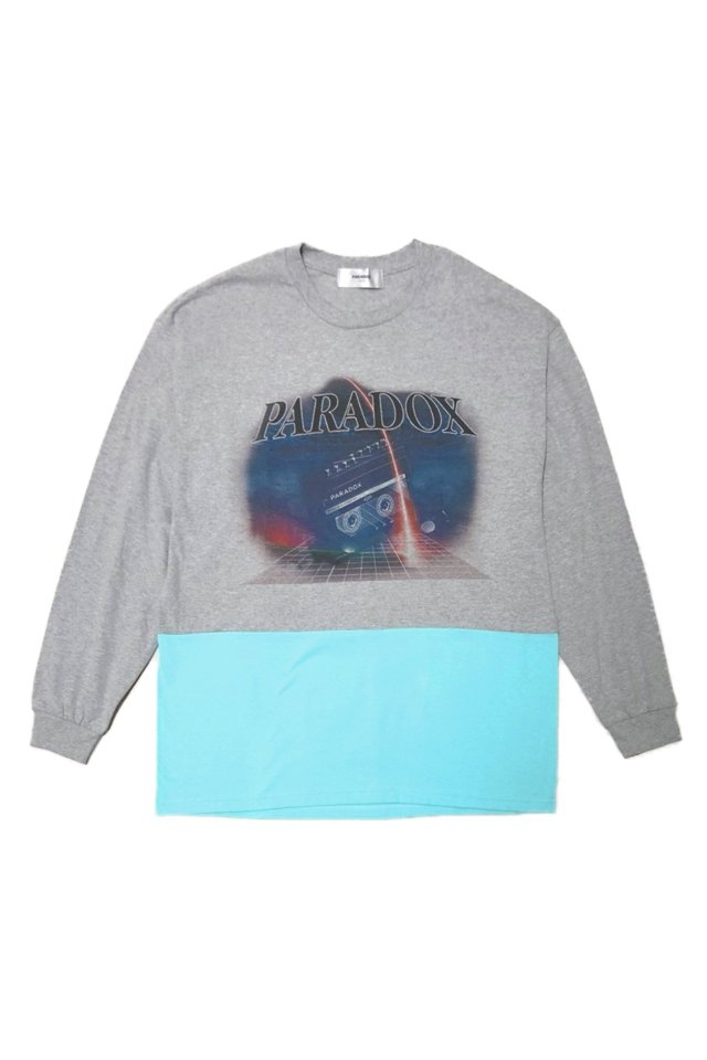PARADOX - SPACE X L/S TEE (GRAY)「パラドックス」 [シャツ]