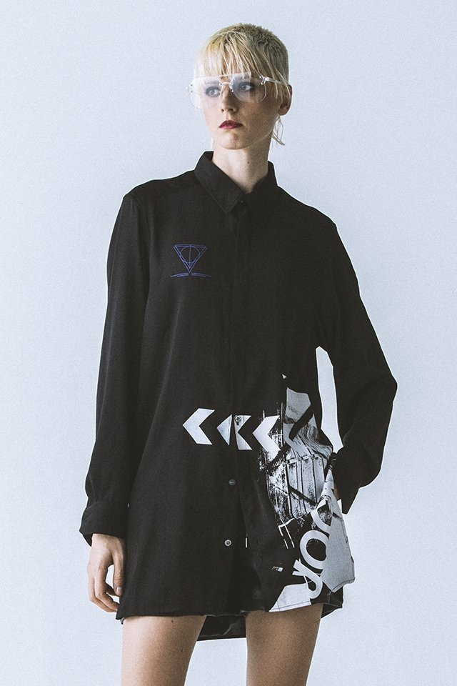 【30%OFF】PARADOX - LONG SHIRTS (BLACK)「パラドックス」[シャツ]