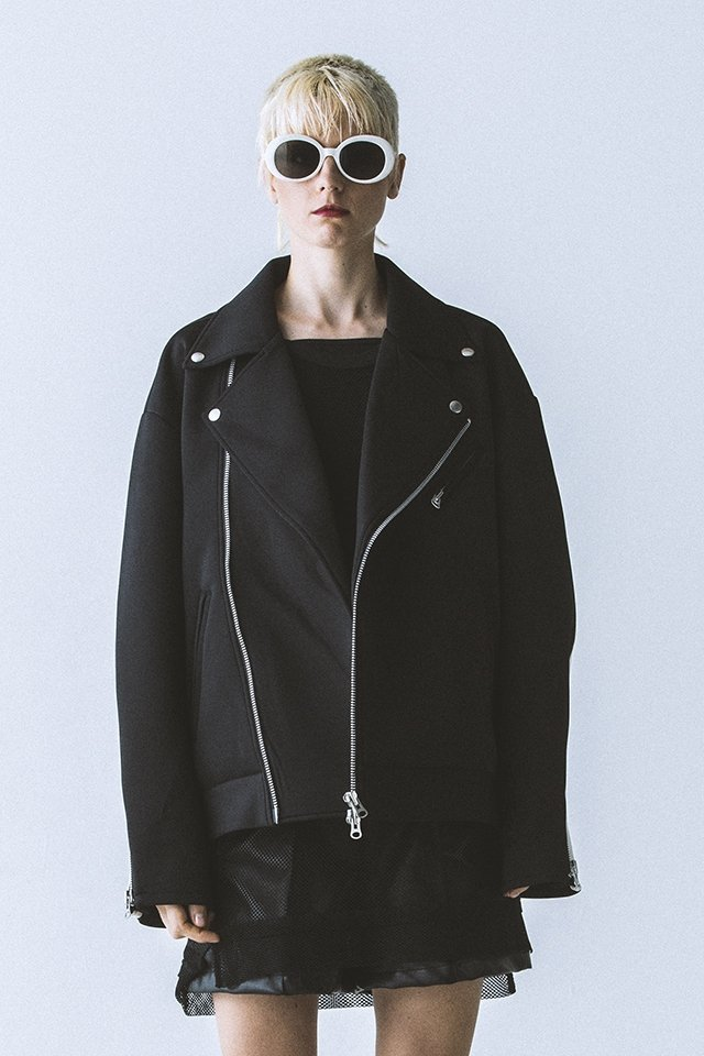【10%OFF】PARADOX - JERSEY RIDERS JACKET (BLACK) 「パラドックス」[アウター]