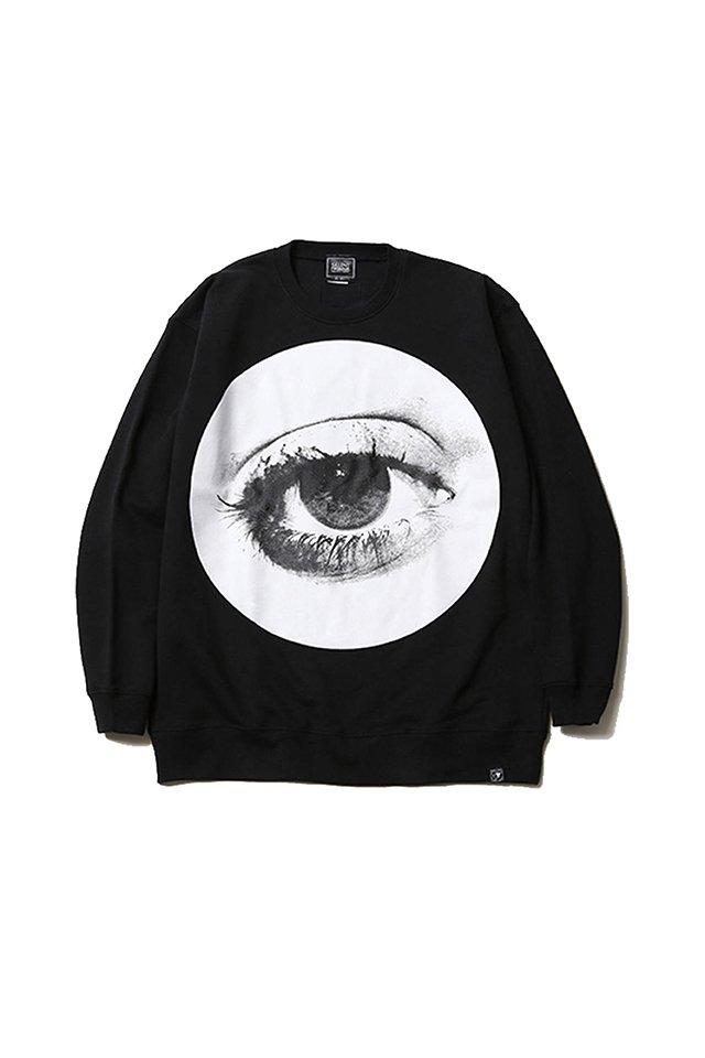 SILLENT FROM ME - HOLE -Crew Sweat- (BLACK) 「サイレントフロムミー」[スウェット]