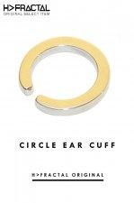 CIRCLE EAR CUFF(GOLD)「フラクタル」[アクセサリ]