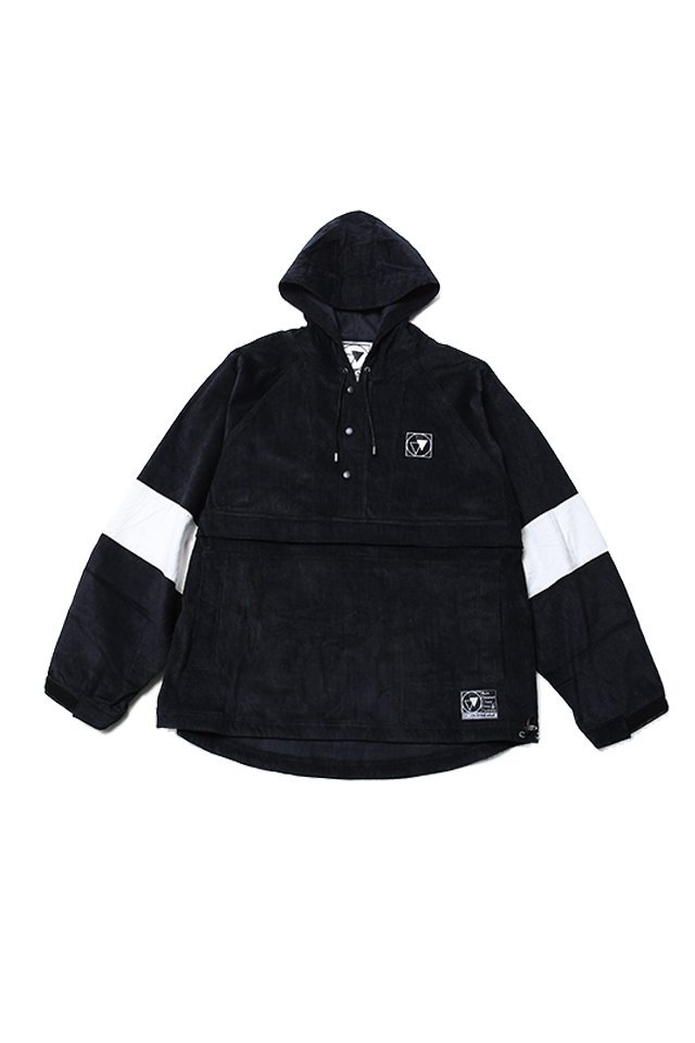 SILLENT FROM ME - LAX -Cord Anorak- (BLACK/WHITE)「サイレントフロムミー」[パーカー]