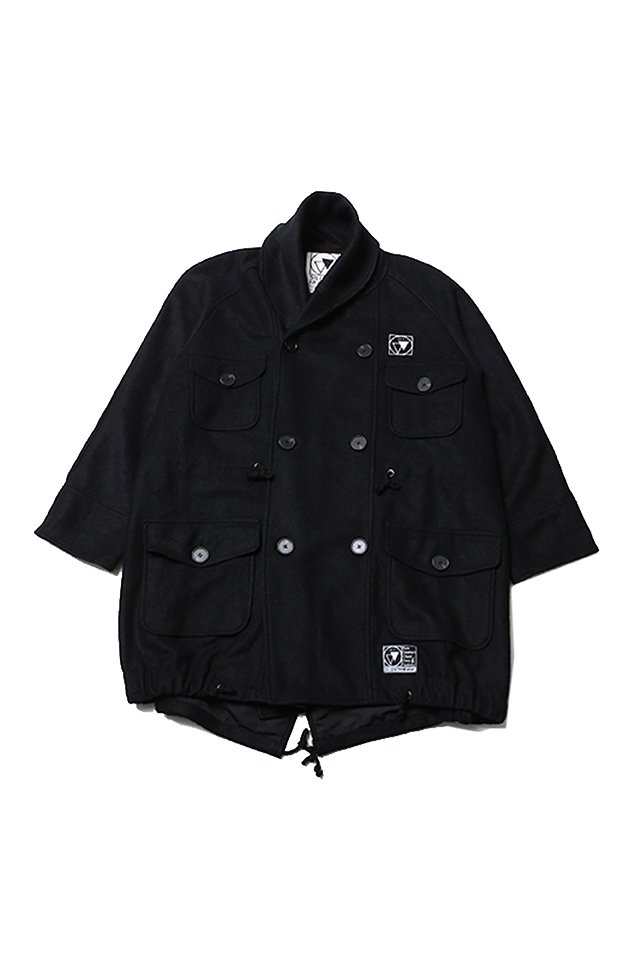 SILLENT FROM ME - WANDER -Millotary Coat (BLACK)「サイレントフロムミー」[コート]