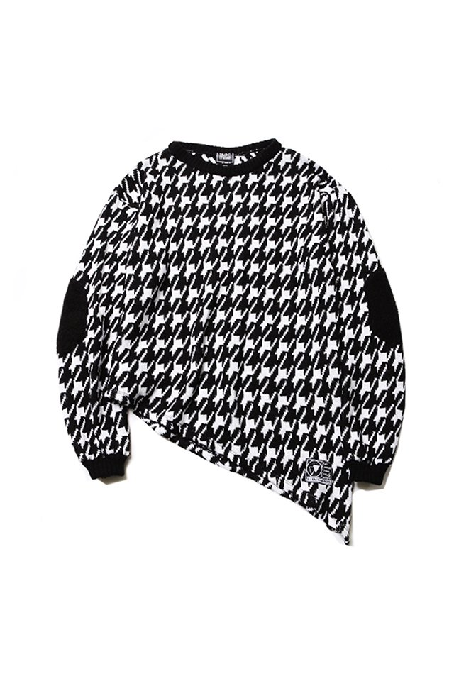 SILLENT FROM ME - GHOST -Asymmetry Knit Sweater- (BLACK CHIDORI)「サイレントフロムミー」[ニット]